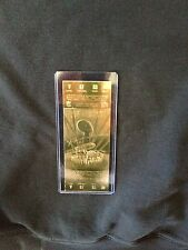 Dallas Cowboys vs. Buffalo Bills Super Bowl XXVII 22kt Gold Ticket (NEW)