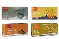 Vlcc facial kit combo gold silver papaya fruit anti tan facial kit pack of 4