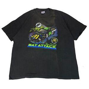 Vintage Batman Bill Elliott Shirt Bat Attack McDonalds Nascar Single Stitch XXL