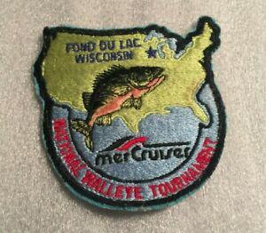 Vintage Mercruiser National Walleye Tournament Fishing Patch Fond Du Lac Wisc