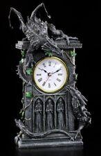 Tisch Uhr - Kämpfende Drachen - Dragon Clock Fantasy Deko Einrichtung