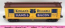 K-Line 238 Kingan's Reliable Hams & Bacon boxcar