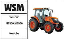 Kubota M8560 M9960 Tractor WSM Service Manual CD