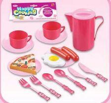 Enfants cuisine role play set avec jouet en plastique ustensiles couverts carafe plaques tasses
