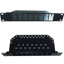 "11.5"" 1U 8 Port Blank Patch Panel -LJ6C RJ11 CAT5/6-Network Data Shelf Mini 38mm"