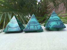 Malachite Pyramid Gemstone Specimen Crystal Healing Energy Metaphysical Congo.