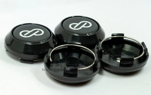 4pcs 64mm Enkei Wheel Center Caps Rim Caps Hub Caps Emblems Decals Black