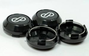 4pcs 64mm Enkei Wheel Center Caps Rim Caps Hub Caps Emblems Decals Black