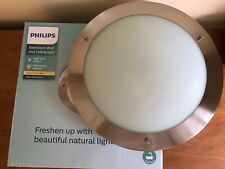 Philips Bathroom Ceiling Lamp Salts Matt Chrome/Glass NEW BOXED
