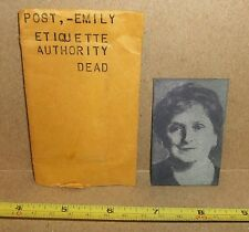 Emily Post Newspaper Printing Plate 1960 Obit Author Etiquette Writer Socialite