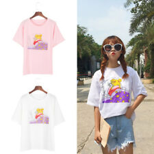 M/L/XL Süß Sailor Moon Kurzarm T-Shirt Japan Anime Aufdruck Damenmode Geschenk