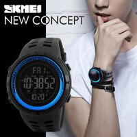 SKMEI Men's Military LED Digital Date Countdown Timer Sport Quartz Wrist Watch