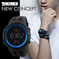 SKMEI Men's LED Digital Sports Waterproof Army Military Wristwatch Watch NEW