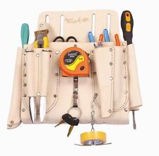 Full Graiin Leather Electricians Nail & Tool Pouch Bag