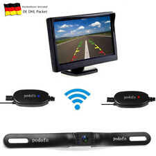"""Funk Kabellos Auto Rückfahrkamera LED Kamera + 5"""" Kfz Monitor Rückansicht Set"""