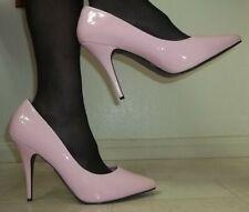 "PLEASER size 15 Shiny Pink Patent Pumps Shoes 5"" High Stiletto Heels, Seduce 420"