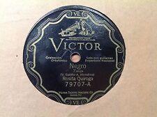 78 RPM - ROSITA QUIROGA - TANGO - Negro - VICTOR 79707