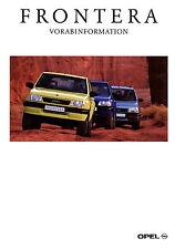 Prospekt 1996 Opel Frontera Vorabinformation Autoprospekt 6 96 Geländewagen Pkw