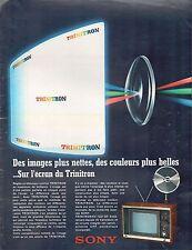 ▬► PUBLICITE ADVERTISING AD TRINITRON SONY Télévision Couleurs