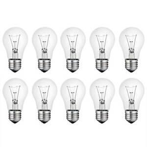 10 x Glühbirne 40W E27 klar Glühlampe 40 Watt Glühbirnen Glühlampen warm dimmbar