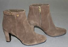 TORY BURCH Suede Milan Double T Logo Detail Booties Boots Size 9 NEW $385