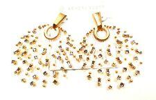 KENDRA SCOTT Fabia Rose Gold Plated Smoky Mix Statement Earrings