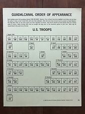 Board Game Parts, Guadalcanal, U.S. Order of Appearance, Avalon Hill, 1966