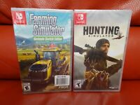 Farming Simulator: Nintendo Switch Edition & Hunting Simulator Bundle Brand NEW