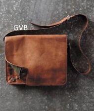 Men's Leather Messenger Shoulder Business Work Briefcase Laptop Bags Handmade
