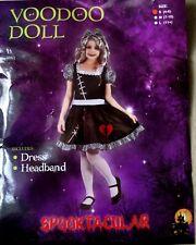 Halloween Fancy Dress Costume Girl Age 4-6 years Voodoo dool Children UK