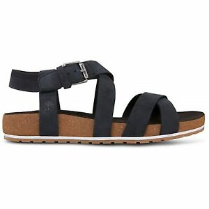 Timberland - Malibu Waves Ankle Strap Sandal Black Nubuck Sandale Damen