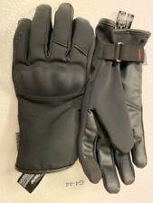 Gants moto mi saison  homologué CE cuir textile étanche  RACER  Wildry noir  M/8