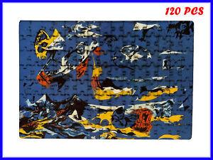 Jackson Pollock - Blue (Moby Dick) Art - 120 Piece Jigsaw Puzzle