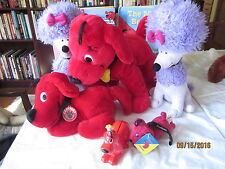 """lot of CLIFFORD :Stuffed Animals KOHL'S CARES 14"""", 2 books, 2 miniature clifford"""