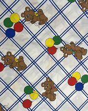 New listing Vintage Teddy Bear Balloons Baby Princess Fabrics Oop Cotton Quilt/Sew Diy 2 Yd