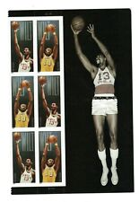 2014 #4950-51 Forever Wilt Chamberlain 6 with side label Mint NH