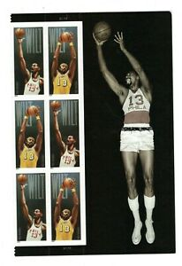 2014 Sc #4950-51 Forever Wilt Chamberlain 6 with side label Mint NH