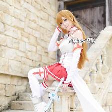 Sword Art Online Asuna Yuuki Cosplay Perücke +Haarnetz Braun Fasching welling