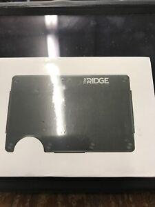 Ridge RFID Blocking Metal Wallet with Cash Strap - Black