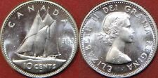 Proof Like 1963 Canada Silver 10 Cents From Mint's Set