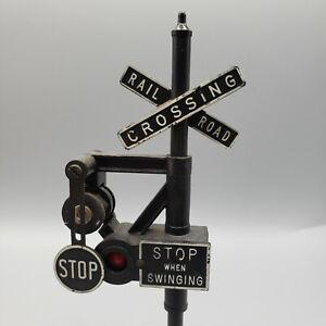 Vintage Train Lionel O Scale No 140 Banjo Railroad Crossing Signal