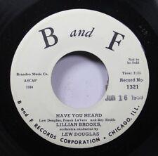 50'S & 60'S Promo Nm! 45 Lillian Brooks - Have You Heard / Love Me! Love Me! On