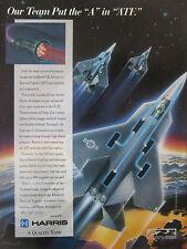 1991-1992 PUB HARRIS AEROSPACE FIBER OPTICS SYSTEM LOCKHEED F-22 ATF FIGHTER AD