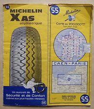 carte MICHELIN 55 CAEN - PARIS 1966
