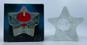 Vintage 1980 Avon Starbright Star Shaped Candle Holder Only No Candle Included