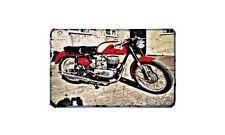 Bianchi 1956 Motorbike Sign Metal Retro Aged Aluminium Bike