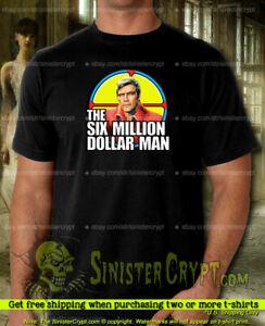 Six Million Dollar Man t-shirt, Colonel Steve Austin Lee Majors Small to 6XL