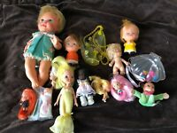 Lot of Vintage Small Dolls Sold As Is