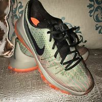 Nike KD 8 VIII GS Euro Green Orange Size 7Y DS Kevin Durant Basketball Shoes