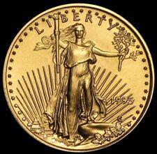 1995 GOLD 1/10 OZ US $5 DOLLAR AMERICAN EAGLE COIN BRILLIANT UNC+